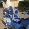 honda goldwing in blau grau