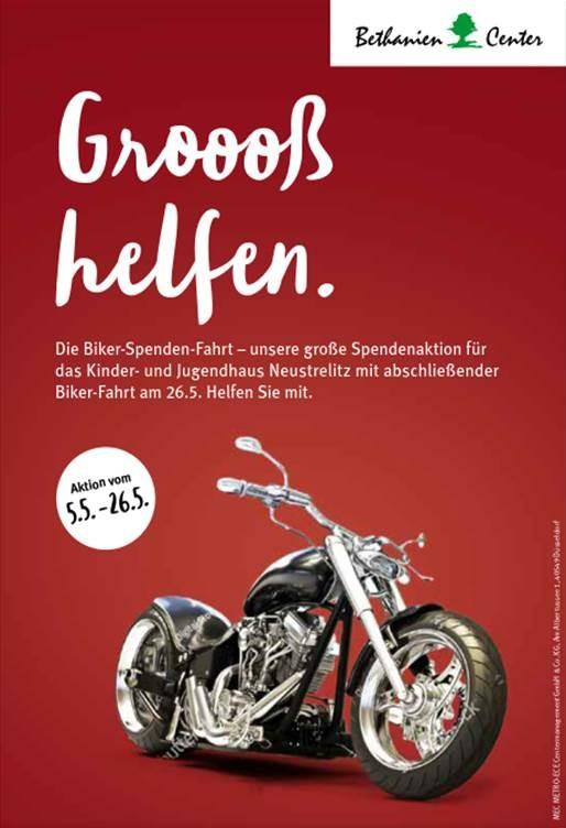 Die Biker Spenden Fahrt