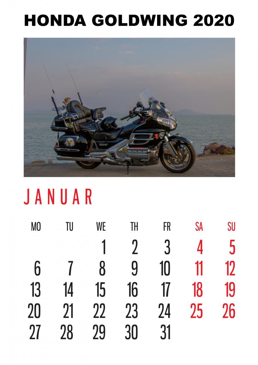 Honda Goldwing Kalender 2020